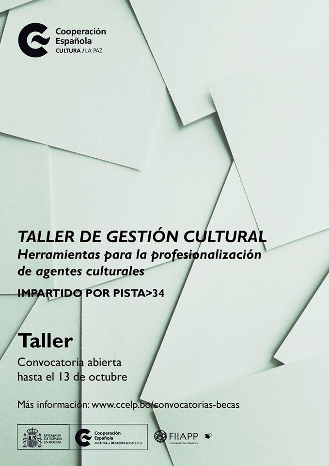 Taller de gestión cultural en el Centro Cultural de España en La Paz